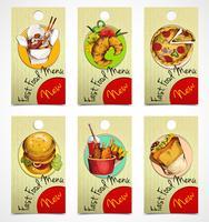 Etiquetas de fast food vetor
