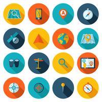 Conjunto de ícones plana de navegação