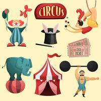 Conjunto decorativo de circo vetor