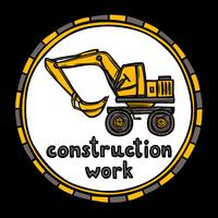 Esboço de trabalho de construção de edifício de arquiteto vetor