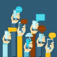 Cartaz de bate-papo para celular