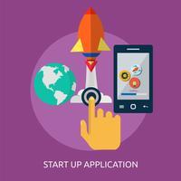 Start Up Application Ilustração conceitual Design vetor