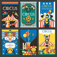 Cartazes de circo retrô