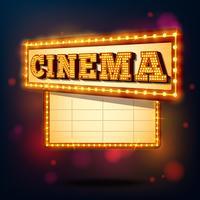 Sinal de cinema retrô vetor