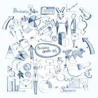 Conjunto de doodle de negócios