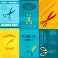 Barbeiro Poster Set vetor