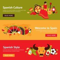 Conjunto de banner de Espanha vetor