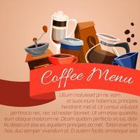 Cartaz de menu de café vetor