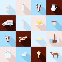 Conjunto de ícones de leite