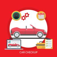 Ilustração conceptual da verificação do carro vetor