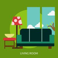 Ilustração conceitual de sala de estar