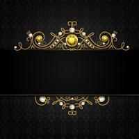 Fundo preto de jóias vetor