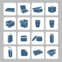 Conjunto de ícones de embalagem vetor