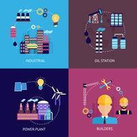 Conjunto plano industrial