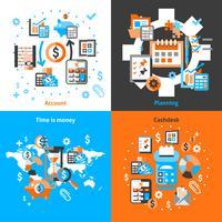 Contabilidade ícones definidos planos