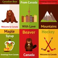 Conjunto de mini pôster do Canadá