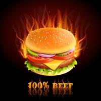 Fundo de hambúrguer de carne vetor