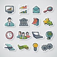 Conjunto de adesivos de negócios