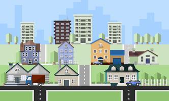 Edifícios de casas residenciais