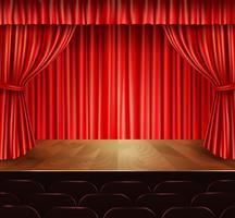 Fundo de palco de teatro