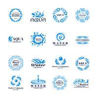 Conjunto de logotipo de água