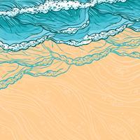 Fundo de ondas do mar vetor