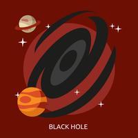 Ilustração conceitual do buraco negro Design