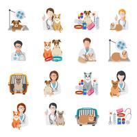 Ícone veterinário plano
