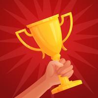 Mão segurando troféu