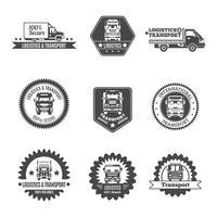 Conjunto de etiquetas de caminhão