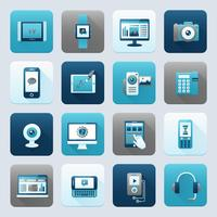 Internet e dispositivo móvel vetor