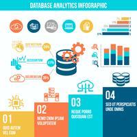 Infografia de análise de banco de dados vetor