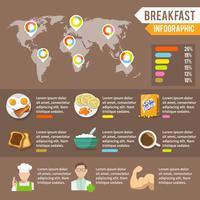 Conjunto de infográfico de pequeno-almoço