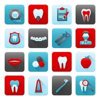 Conjunto de ícones dentais vetor