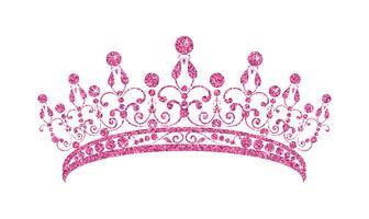 Diadema Brilhante. Tiara cor-de-rosa isolada no fundo branco.