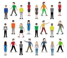 Avatares de pixel de pessoas vetor