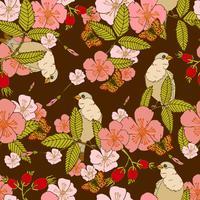 Flores sem costura padrão
