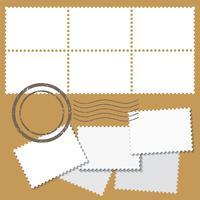 Marcas postais em branco vetor