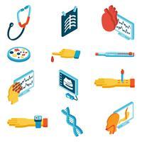 Ícones isométricos médicos
