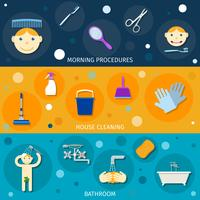 Conjunto de Banners de Higiene