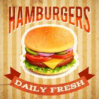 Cartaz do fast food