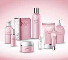 Conjunto de pacotes cosméticos