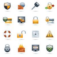 Conjunto de ícones de segurança
