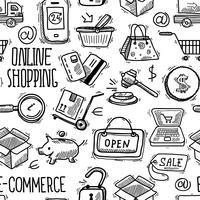 Padrão de compras online vetor