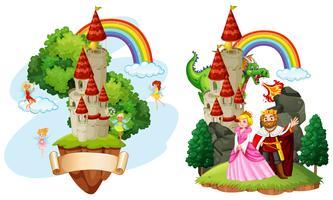 Belo castelo de conto de fadas