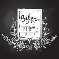 Emblema do clube do motociclista vetor