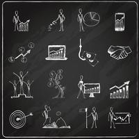 Quadro de doodle de negócios