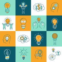 Conjunto de ícones de idéia