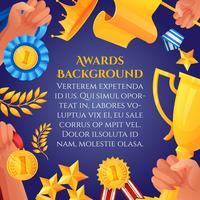 Prêmio e pôster de prêmios vetor