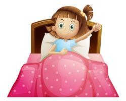 Menina, cama vetor